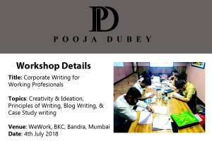 corporate writing workshop by Pooja Dubey